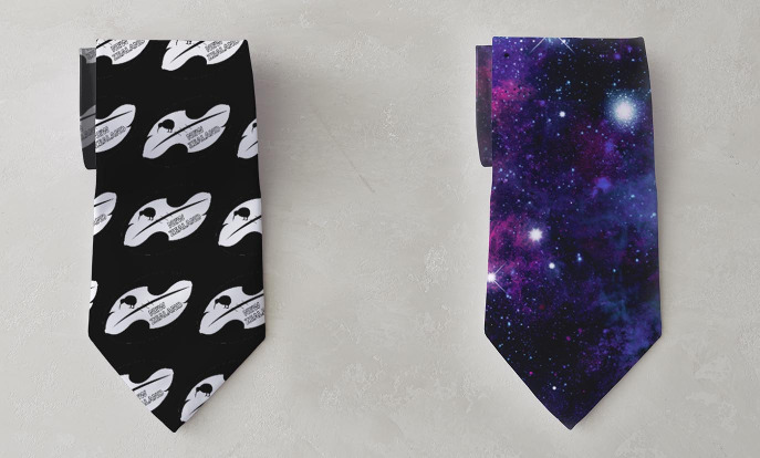 Customisable ties from Zazzle