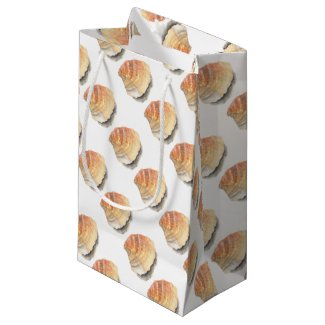 Beach Cockle Sea shell, yellow and orange Small Gift Bag