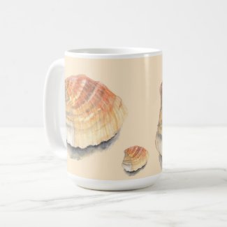 Cockle Seashell from the Beach on Summer Holiday Coffee Mug