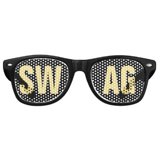'SWAG' Black and Gold Party Retro Sunglasses