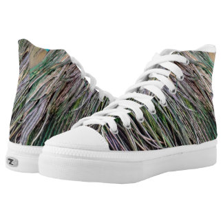 Swag Peafowl Feathers Cool Colors High Tops