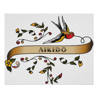 Swallow and Scroll with Aikido Print