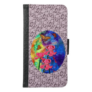 Swallowtail Attraction Lace Trim Cell Phone Wallet