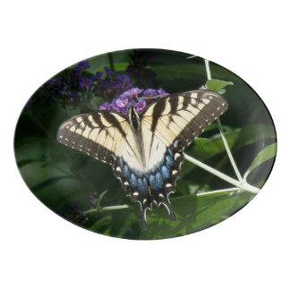 Swallowtail Butterfly Floral Serving Platter