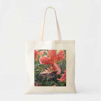 Swallowtail Butterfly on Tiger Lily Tote Bag