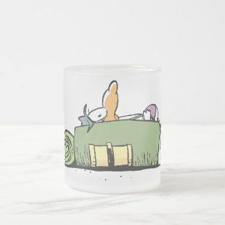 Swamp Cartoons Backpackers Frosted Glass Mug