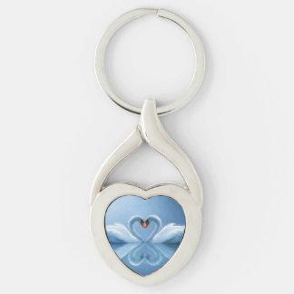 Swan Eternal Love Key Ring
