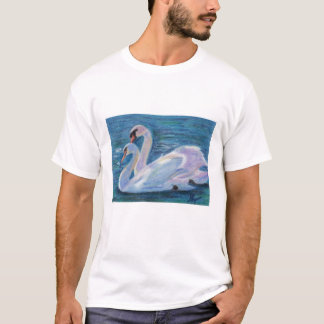 Swan Lake aceo Adult T-shirt