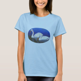 Swan Reflections Ladies Tshirt