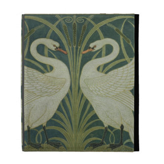 'Swan, Rush and Iris' wallpaper design iPad Folio Covers