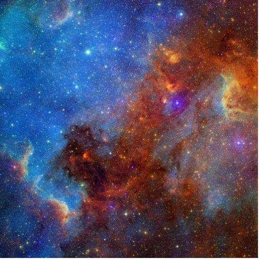 Swan Tail Nebula Photo Sculpture
