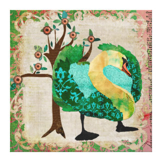 Swan Tropical Story Canvas Canvas Prints
