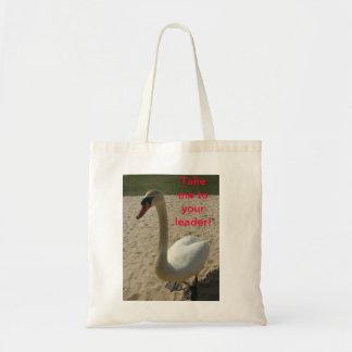 Swan Visits Earth Tote Bag