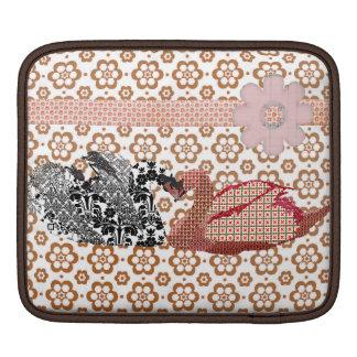 Swanky Swans Bronze Floral   iPad Sleeve
