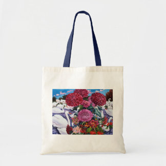 Swans and Chrysanthemums 2005 Tote Bag