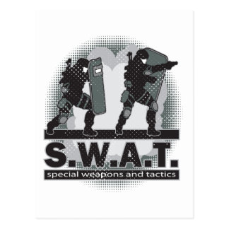 SWAT Team Entrance Postcard