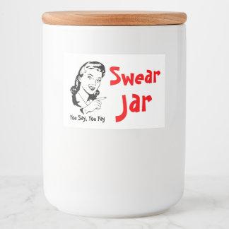 Swear Jar Gag Gift Food Label