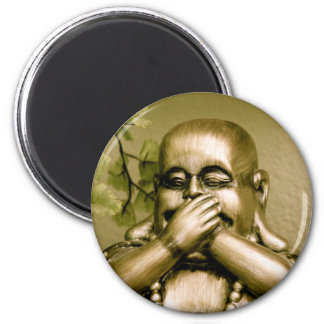 Swear to Buddha! 6 Cm Round Magnet