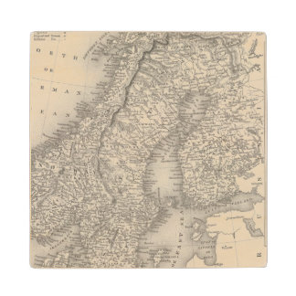 Sweden and Norway 4 Wood Coaster
