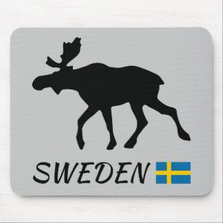 Sweden Elk and flag Mouse Pad