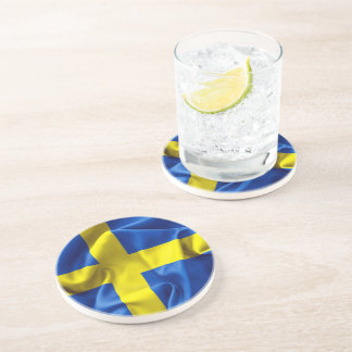 Sweden Flag Beverage Coasters