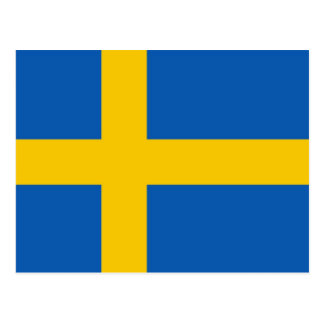Sweden Flah Post Card