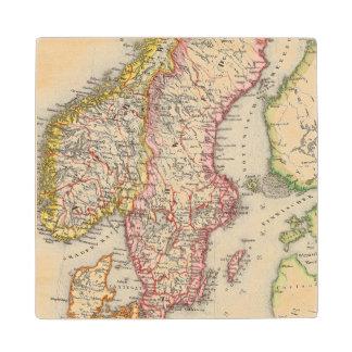 Sweden, Norway 2 2 Wood Coaster