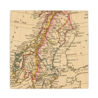 Sweden, Norway 2 Wood Coaster