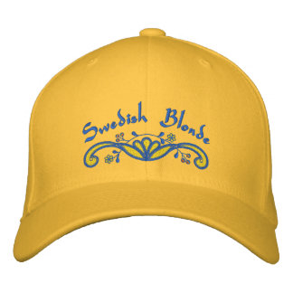 Swedish Blonde Scandinavian Embroidered Hats