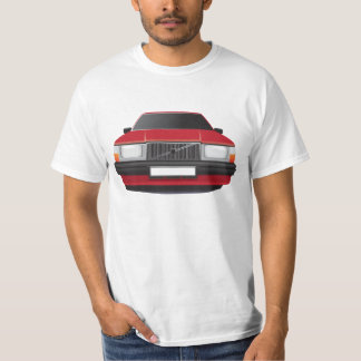 Swedish family car from 80's - 90s, red T-Shirt