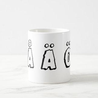 Swedish letters coffee mug