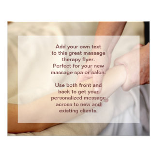 Swedish Massage Photo - Arm and Hand 11.5 Cm X 14 Cm Flyer