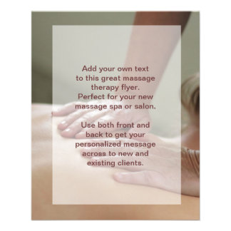 Swedish Massage Photo Flyer