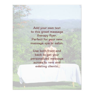 Swedish Massage Photo Full Color Flyer