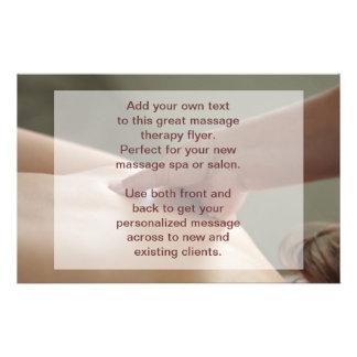 Swedish Massage Photo - thumb pressure Flyer