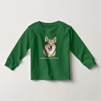Swedish Vallhund and Yellow Roses 5-6T Toddler T-Shirt