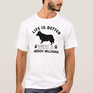 Swedish Vallhund dog breed designs T-Shirt
