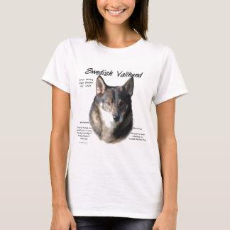 Swedish Vallhund History Design T-Shirt
