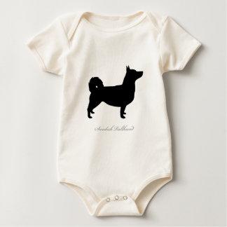Swedish Vallhund silhouette Baby Bodysuit
