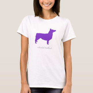 Swedish Vallhund T-shirt (purple docked)