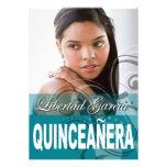 Sweet 15 Quinceañera Photo Birthday Party Personalised Invitation