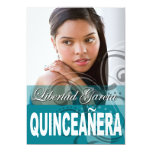 Sweet 15 Quinceañera Photo Birthday Party Personalised Invitation