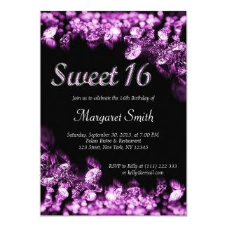 Sweet 16 Diamonds Purple Invitation