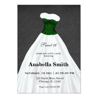 Sweet 16 dress 13 cm x 18 cm invitation card