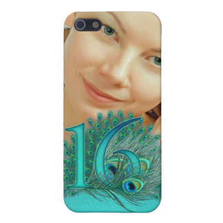 Sweet 16 elegant peacock feather template iPhone 5 case