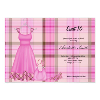 Sweet 16 Fashion Birthday Card