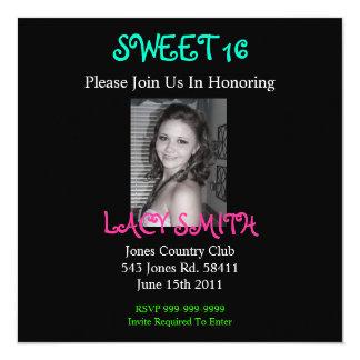 SWEET 16 Invititation 13 Cm X 13 Cm Square Invitation Card