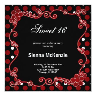Sweet 16 Lady Bug Card