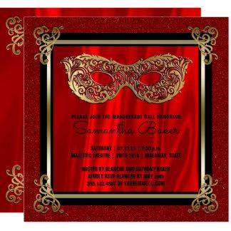 Sweet 16 Masquerade   Red Sweet Sixteen Birthday Card