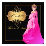 Sweet 16/ Quinceañera/Quince años Personalised Invitations